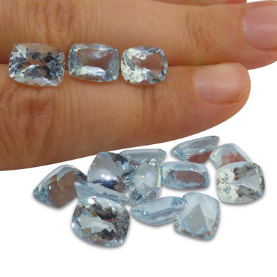 3.4 ct Aquamarine 9x7mm Cushion