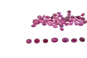 45.6 cts 52 stones Oval Glass Filled Ruby Parcel Wholesale Lot
