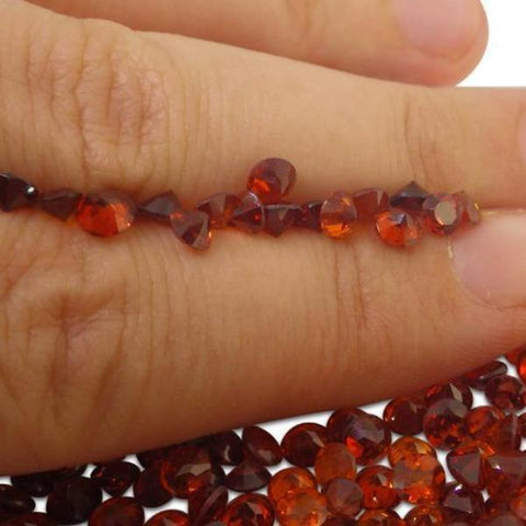 11 Stones - 3.85 ct Hessonite Garnet 4mm Round