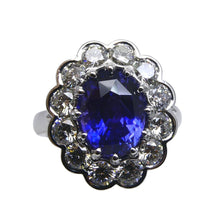 4.64 ct GIA Certified Color Change Sapphire Scallop Ring