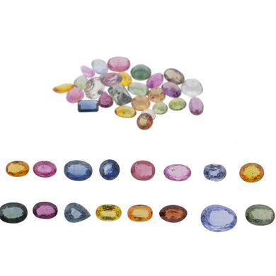 1ct Mixed Multi Colour Natural Sapphire - Skyjems Wholesale Gemstones