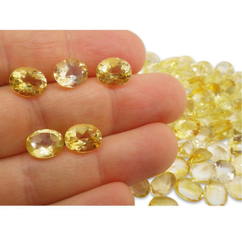 4 Stones - 9.8 ct Citrine 10x8mm Oval