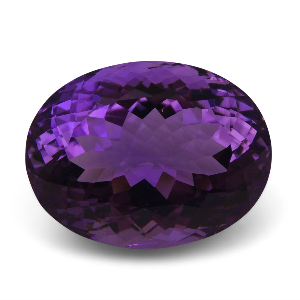 Amethyst 19.4 cts 19.30x14.76x11.58mm Oval Slightly Bluish Purple  $120