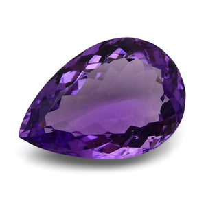Amethyst 12.25 cts 20.06x13.80x8.06mm Pear Purple  $75