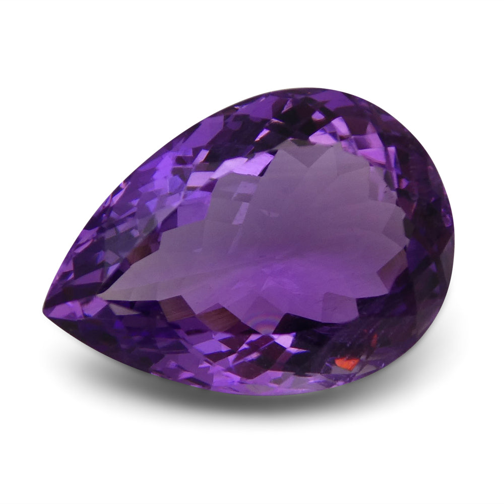 Amethyst 15.09 cts 19.79x14.19x9.70mm Pear Purple  $90