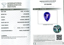 18.22 ct Amethyst Pear IGI Certified