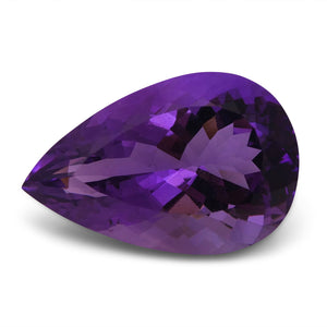 25.39 ct Amethyst Pear IGI Certified