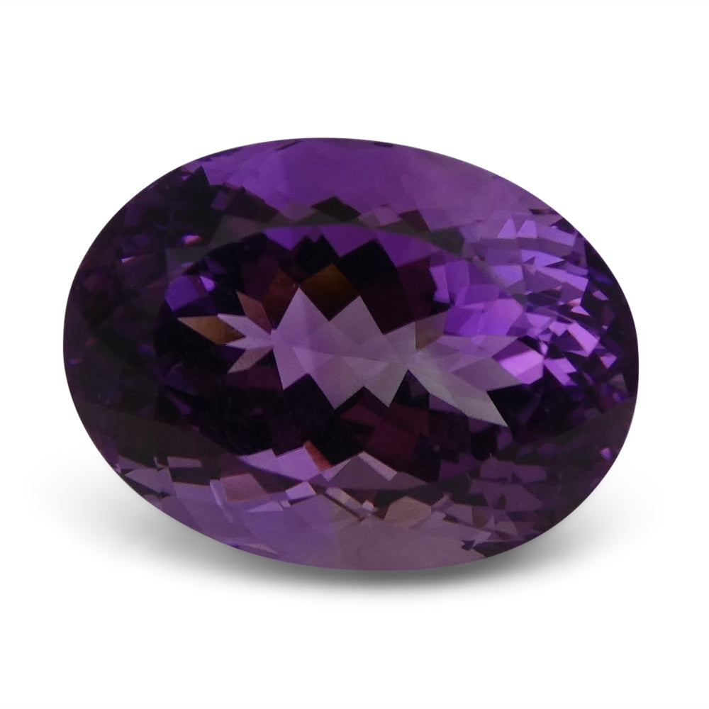 28.02 ct Amethyst Oval IGI Certified