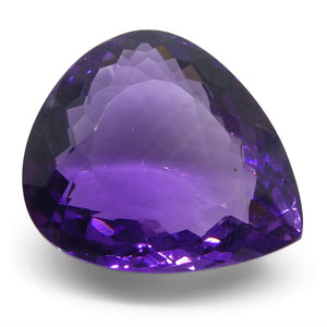 24.24ct Amethyst Pear Shape - Skyjems Wholesale Gemstones