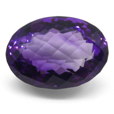 19.89ct Amethyst Checkerboard Oval - Skyjems Wholesale Gemstones