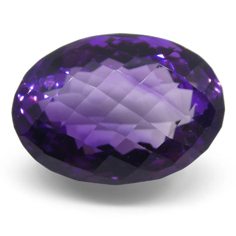 19.89ct Amethyst Checkerboard Oval