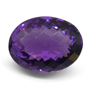 17.9 ct Oval Checkerboard Amethyst - Skyjems Wholesale Gemstones