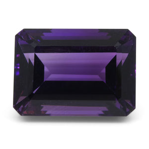 Amethyst 19.44 cts 18.40x13.40x10.40 mmmm Emerald Cut Purple  $390
