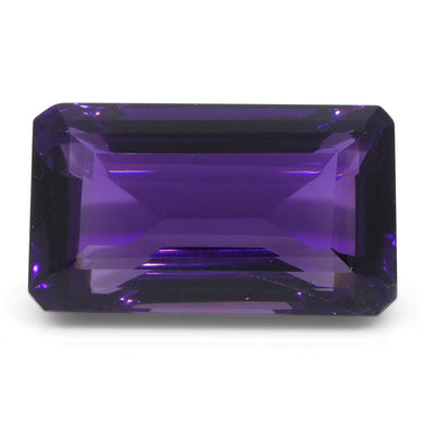 Amethyst 16.18 cts 19.80x11.40x9.10 mmmm Emerald Cut Purple  $330