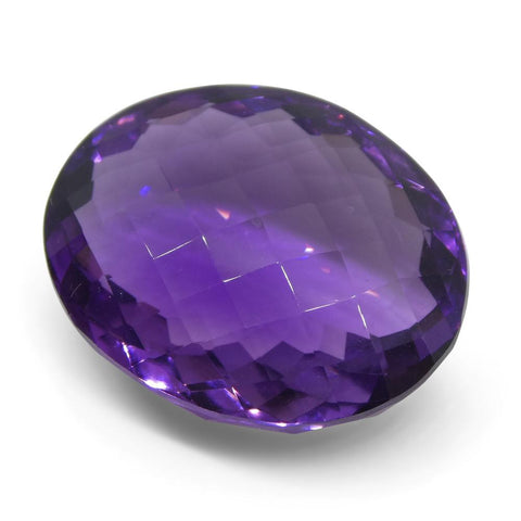 19.04 ct Oval Checkerboard Amethyst