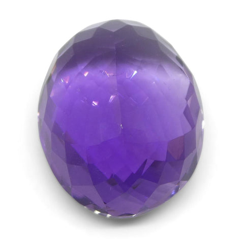 16.16 ct Oval Checkerboard Amethyst