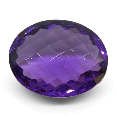 16.88 ct Oval Checkerboard Amethyst - Skyjems Wholesale Gemstones