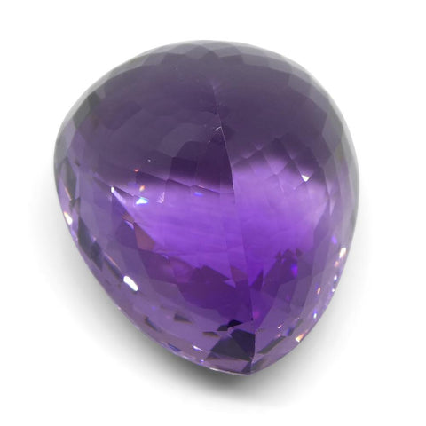 49.3 ct Pear Checkerboard Amethyst