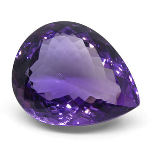 37.48 ct Pear Amethyst - Skyjems Wholesale Gemstones