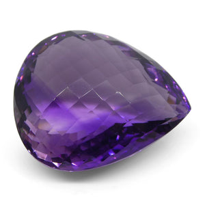 Amethyst 49.32 cts 27x23x15 mmmm Pear Checkerboard Purple  $990