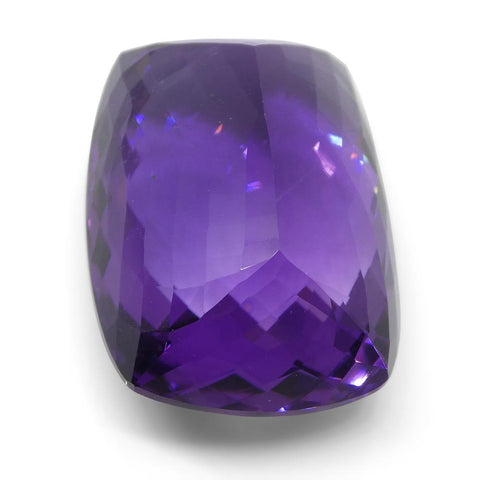 47.89 ct Cushion Checkerboard Amethyst