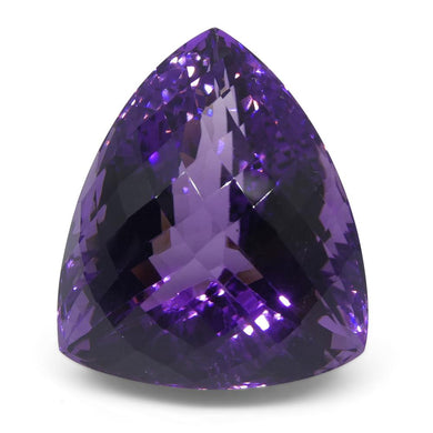 55.26 ct Triangle Checkerboard Amethyst - Skyjems Wholesale Gemstones