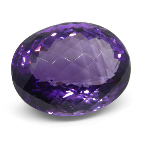 40.48 ct Oval Checkerboard Amethyst