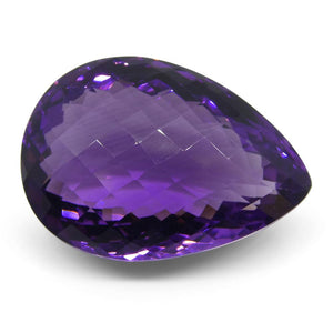 45.22 ct Pear Checkerboard Amethyst - Skyjems Wholesale Gemstones