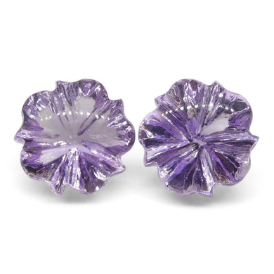 16.15ct Flower Amethyst Fantasy/Fancy Cut Pair