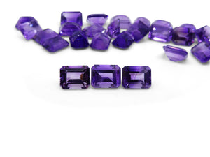 3 Stones - 6.27 ct Amethyst 9x7mm Octagon
