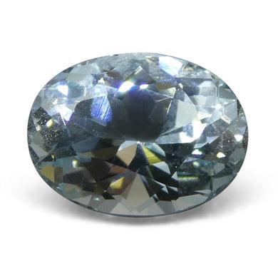 3.95 ct Oval Aquamarine Unheated From Sri Lanka - Skyjems Wholesale Gemstones