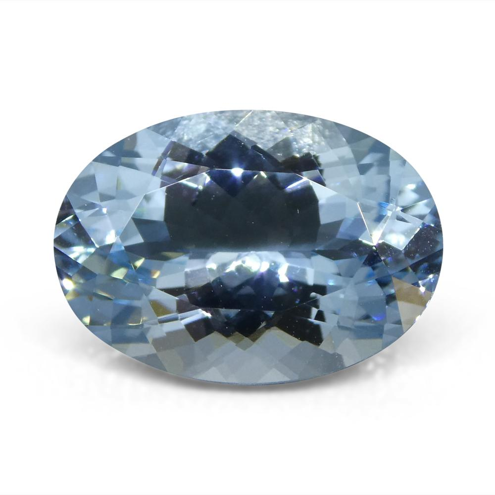 5.58 ct Oval Aquamarine