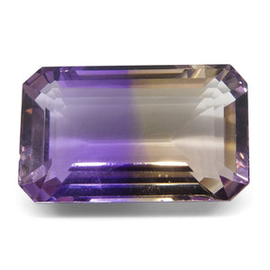 27.05 ct Emerald Cut Ametrine - Skyjems Wholesale Gemstones