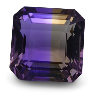 Ametrine 21.71 cts 15.21x14.92x11.90mm Emerald Cut Yellow / Purple $350