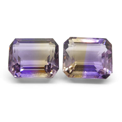 27.34 ct Pair Emerald Cut Ametrine - Skyjems Wholesale Gemstones
