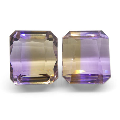 22.86 ct Pair Emerald Cut Ametrine - Skyjems Wholesale Gemstones