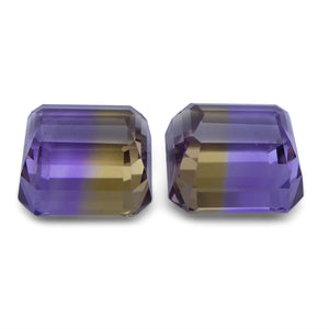 24.26 ct Pair Emerald Cut Ametrine
