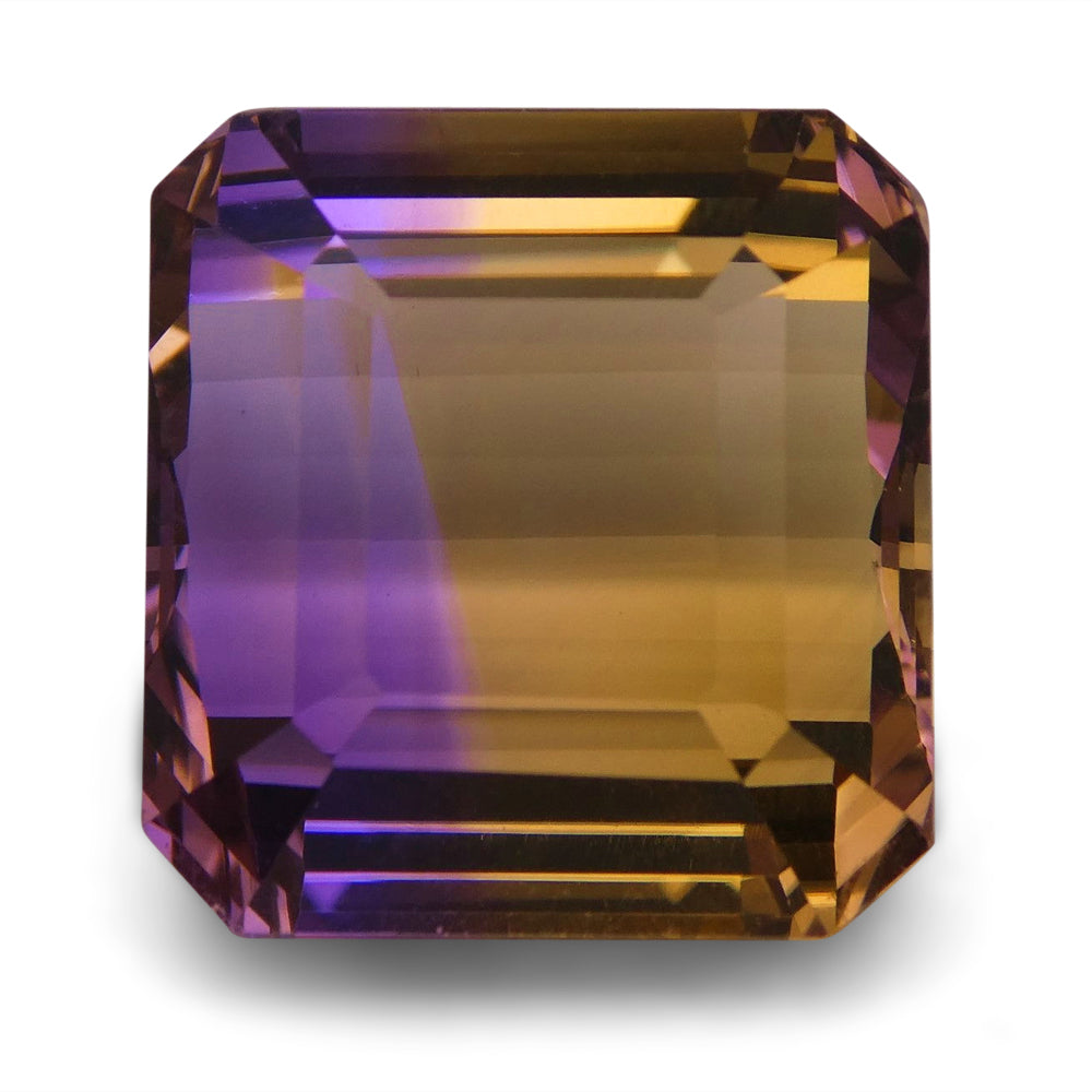 Ametrine 28.45 cts 17.05x16.06x12.46mm Square Purple & Yellow  $290