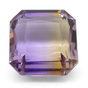 Ametrine 10.9 cts 12.50x12.30x8 mm Square Yellow / Purple  $220