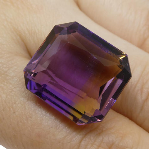 29.65 ct Emerald Cut Ametrine