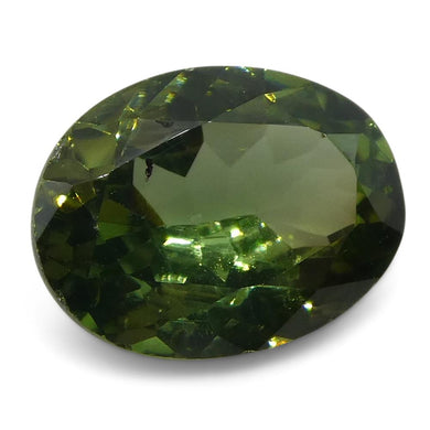 1.07ct Green Chrysoberyl Oval - Skyjems Wholesale Gemstones