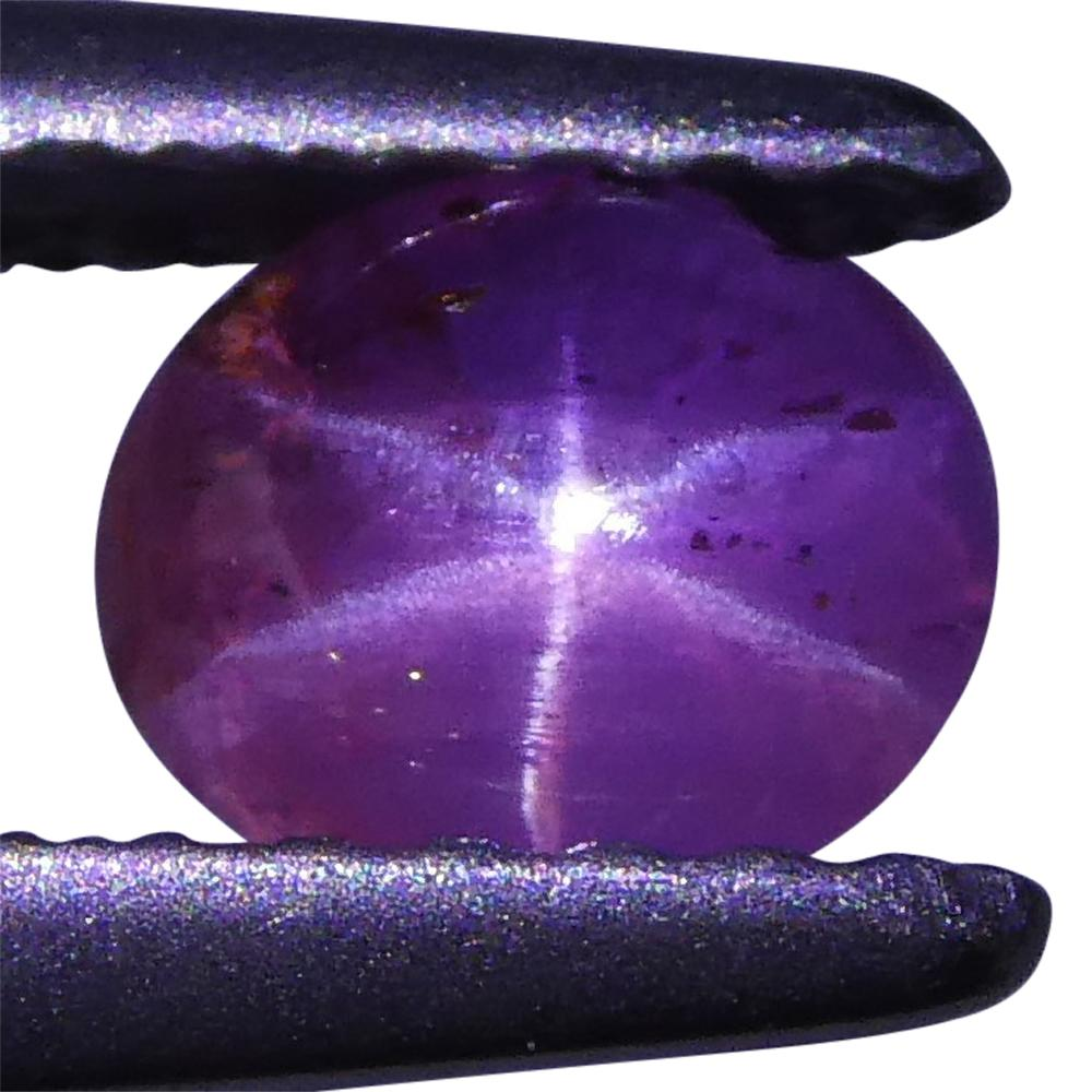 0.77ct Pink Star Sapphire Oval Cabochon
