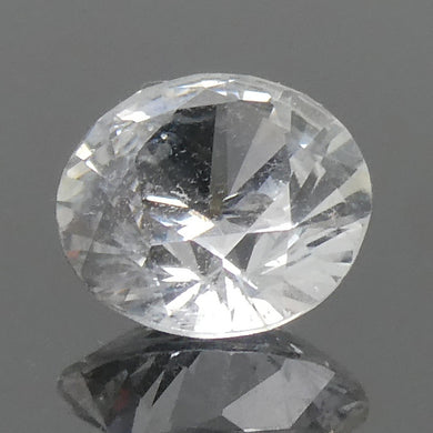 0.89ct Round White Sapphire - Skyjems Wholesale Gemstones