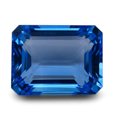 Swiss Blue Topaz 59.93 cts 22.31x16.82x11.90mm Emerald Cut Blue    $435