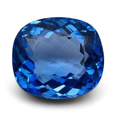 Swiss Blue Topaz 58.17 cts 23.60x21.08x12.83mm Cushion Blue    $420