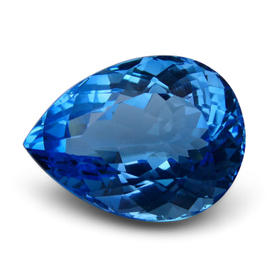 Swiss Blue Topaz 63.09 cts 27.83x20.98x14.66mm Pear Blue    $455