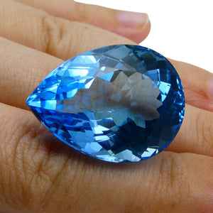 63.09 ct Pear Swiss Blue Topaz