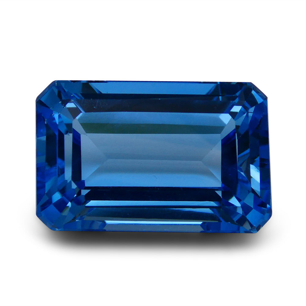 Swiss Blue Topaz 62.48 cts 26.07x17.10x12.98mm Emerald Cut Blue    $455