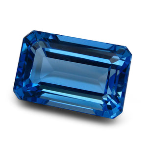 62.48 ct Emerald Cut Swiss Blue Topaz