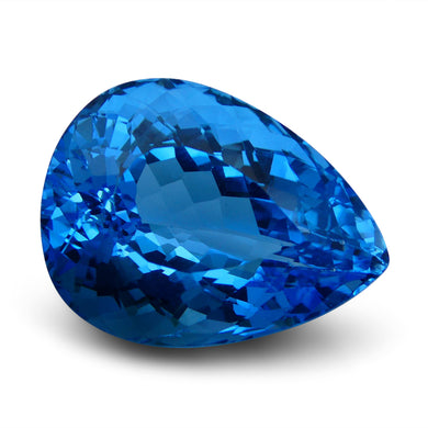 Swiss Blue Topaz 79.85 cts 29.34x22.00x16.82mm Pear Blue    $580